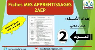 Fiches mes apprentissages 2AEP